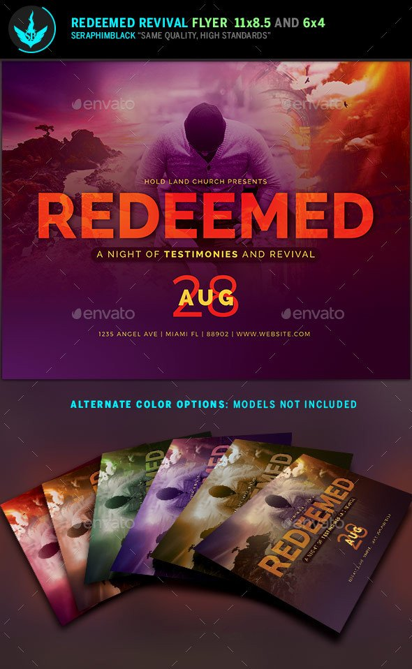 Free Church Revival Flyer Template Redeemed Revival Church Flyer Template by Seraphimblack
