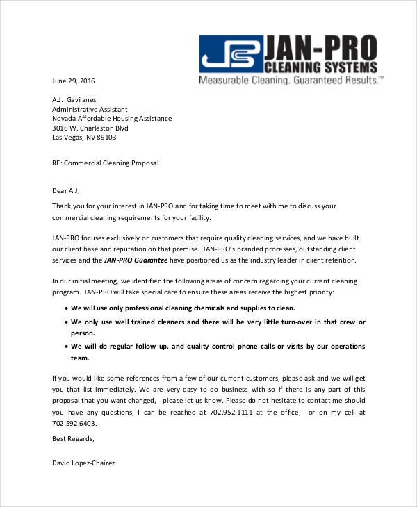 Free Cleaning Proposal Template 12 Cleaning Proposal Examples and Samples Pdf Word