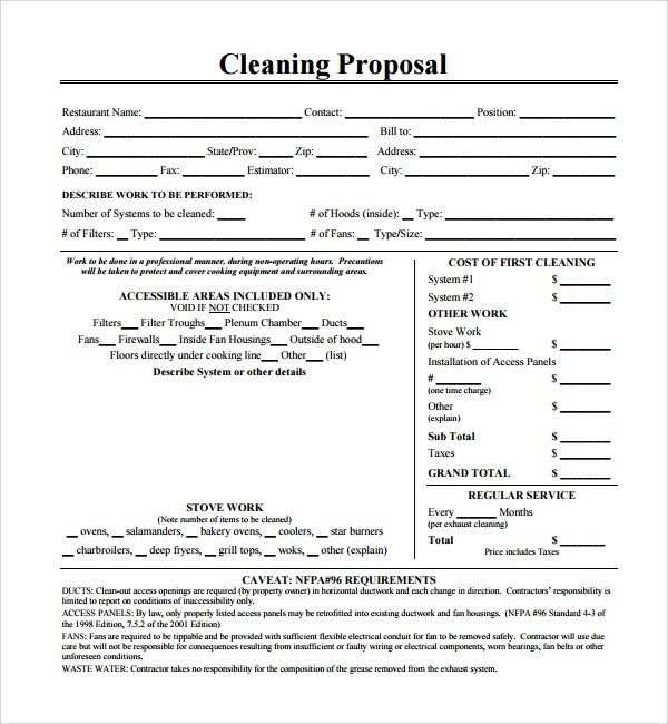 Free Cleaning Proposal Template 16 Cleaning Proposal Templates Pdf Word
