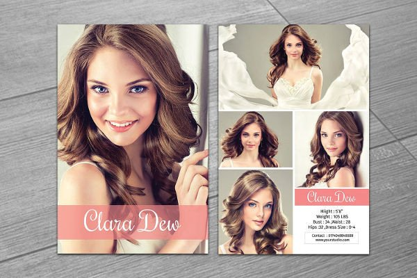 Free Comp Card Template 8 P Card Templates Free Sample Example format
