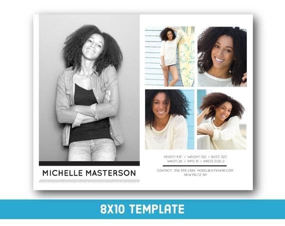 Free Comp Card Template Customizable Digital Model P Card 8x10 Fashion forward