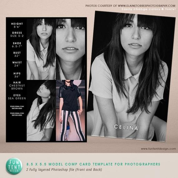 Free Comp Card Template Model P Card 8 5x5 5 Fashion Profile Template by