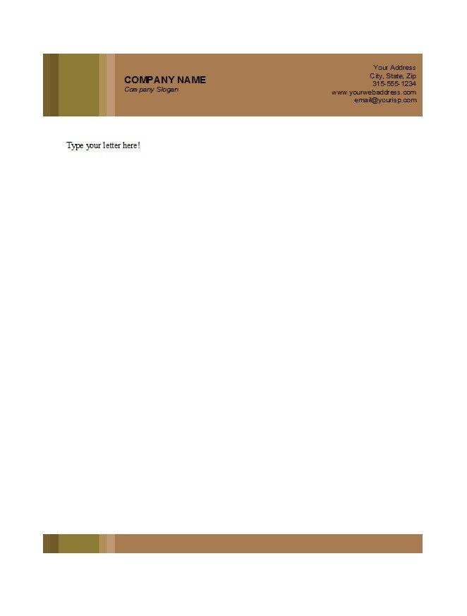 Free Company Letterhead Template 45 Free Letterhead Templates & Examples Pany