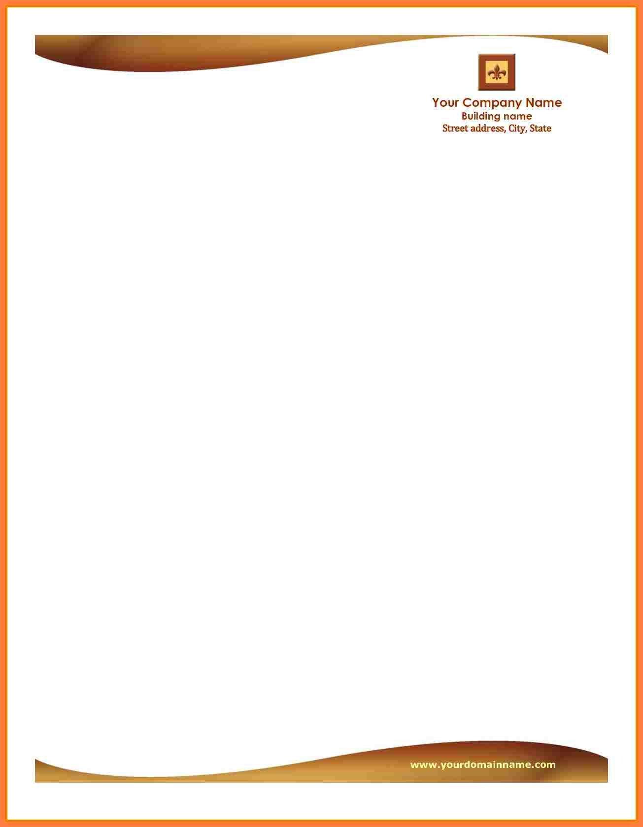 Free Company Letterhead Template 5 Letterhead Templates