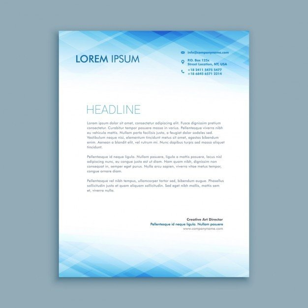 Free Company Letterhead Template Abstract Business Letterhead Template Vector