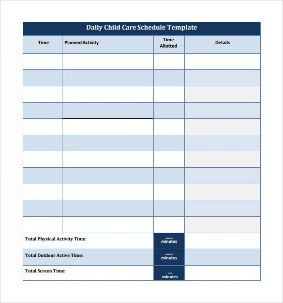 Free Daily Schedule Template 24 Printable Daily Schedule Templates Pdf Excel Word