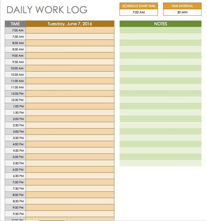Free Daily Schedule Template Free Daily Schedule Templates for Excel Smartsheet