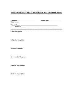 Free Dap Note Template Dap Counseling Notes Template