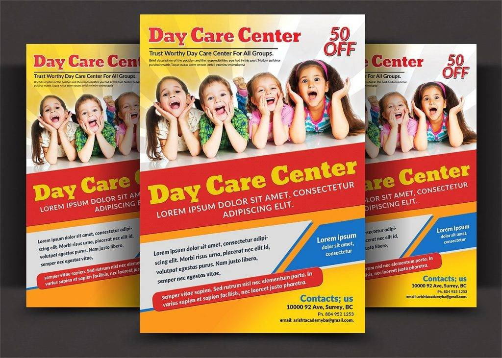 Free Daycare Flyer Templates 16 Child Care Flyer Designs & Examples – Psd Ai Word