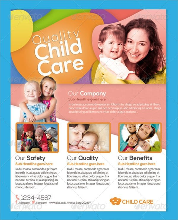 Free Daycare Flyer Templates 18 Day Care Flyers Word Psd Ai Eps Vector