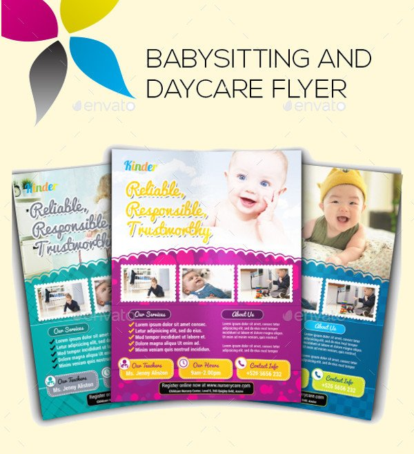 Free Daycare Flyer Templates 20 Beautiful Babysitting Flyer Templates & Creatives