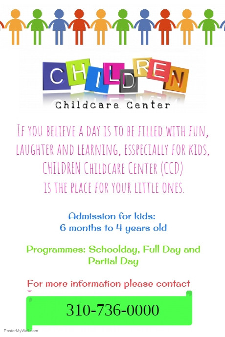 Free Daycare Flyer Templates 25 Beautiful Free & Paid Templates for Daycare Flyers