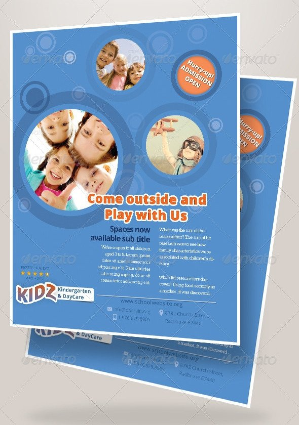 Free Daycare Flyer Templates 31 Elegant Daycare Flyers Word Psd Ai Eps Vector