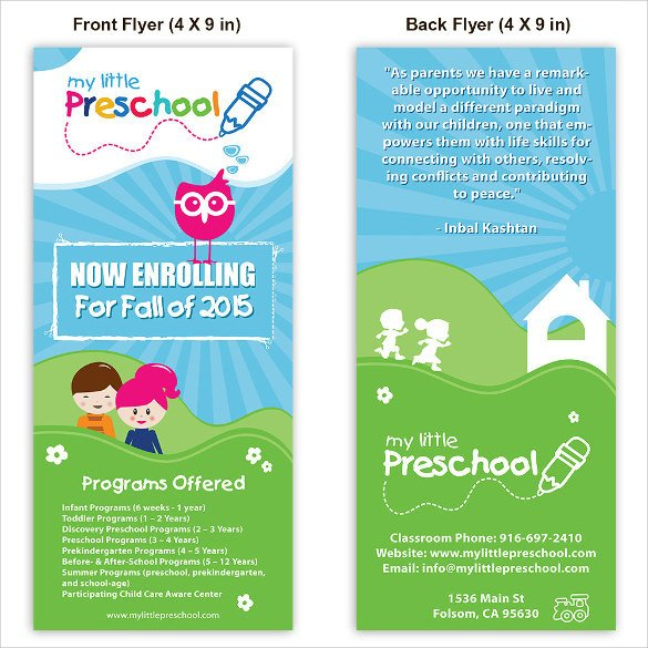 Free Daycare Flyer Templates 33 Daycare Flyer Templates Word Psd Ai Eps Vector