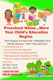 Free Daycare Flyer Templates 60 Customizable Design Templates for Child Care