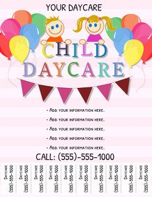 Free Daycare Flyer Templates Customize 200 Babysitting Flyer Templates