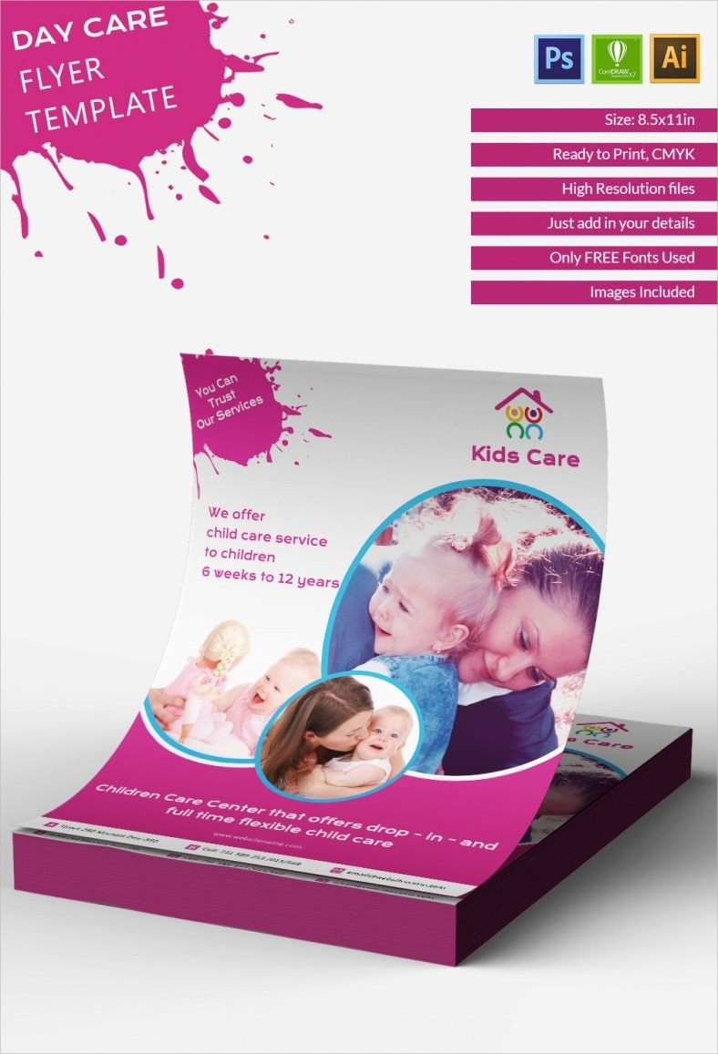Free Daycare Flyer Templates Daycare Flyer Template 27 Free Psd Ai Vector Eps