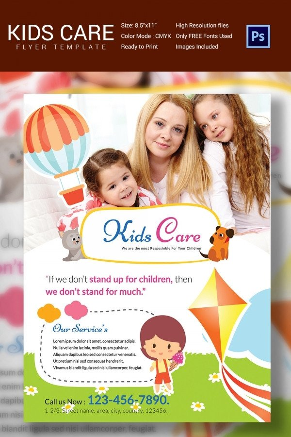 Free Daycare Flyer Templates Daycare Flyer Template 30 Free Psd Ai Vector Eps