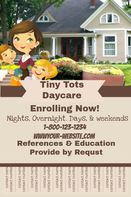 Free Daycare Flyer Templates Daycare Flyer Template
