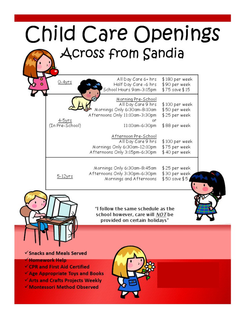 Free Daycare Flyer Templates Easy Marketing Ideas for Flyers – I Own Day Care