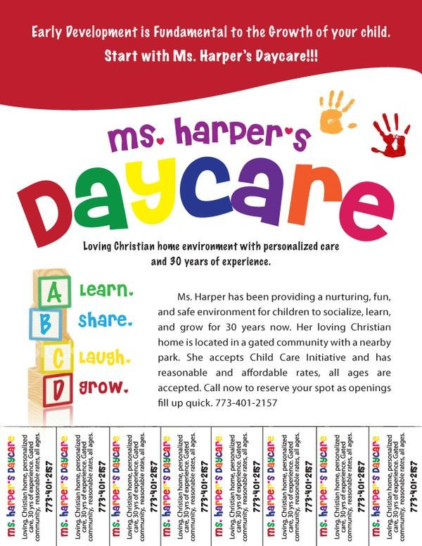 Free Daycare Flyer Templates Free Daycare Flyers