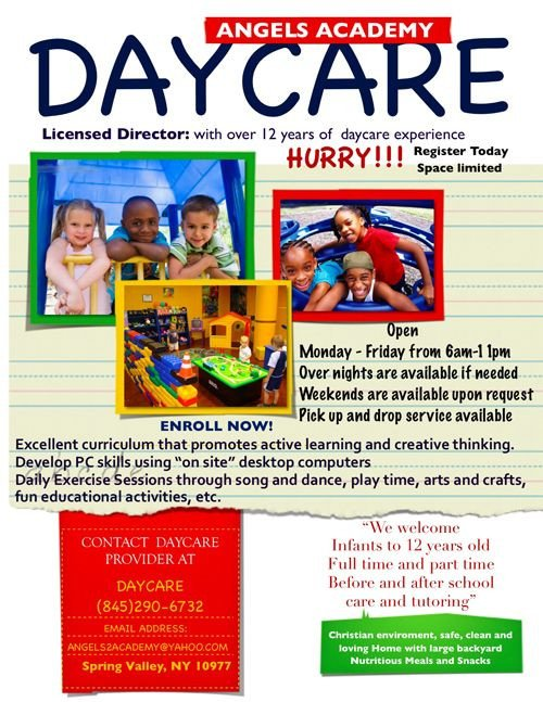 Free Daycare Flyer Templates Pin by Riana Barksdale On Open House Ideas