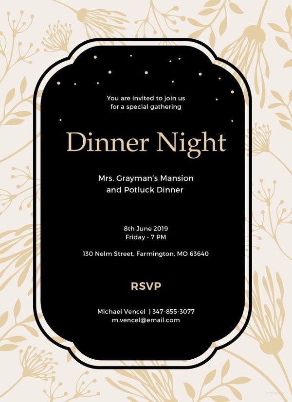 Free Dinner Invitation Templates 13 Team Dinner Invitations Jpg Vector Eps Ai