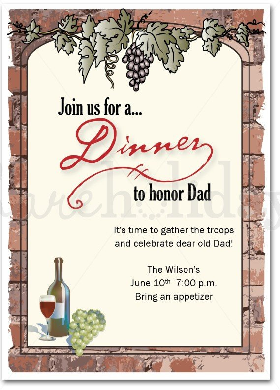 Free Dinner Invitation Templates 16 Best S Of Birthday Dinner Party Menu Template