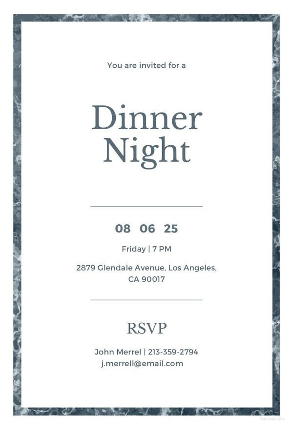 Free Dinner Invitation Templates 40 Dinner Invitation Templates Free Sample Example