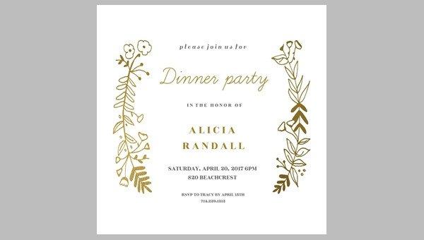 Free Dinner Invitation Templates 62 Printable Dinner Invitation Templates Psd Ai Word