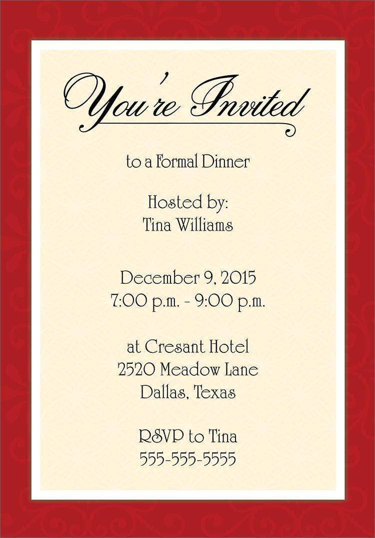 Free Dinner Invitation Templates Dinner Invitation Template Free