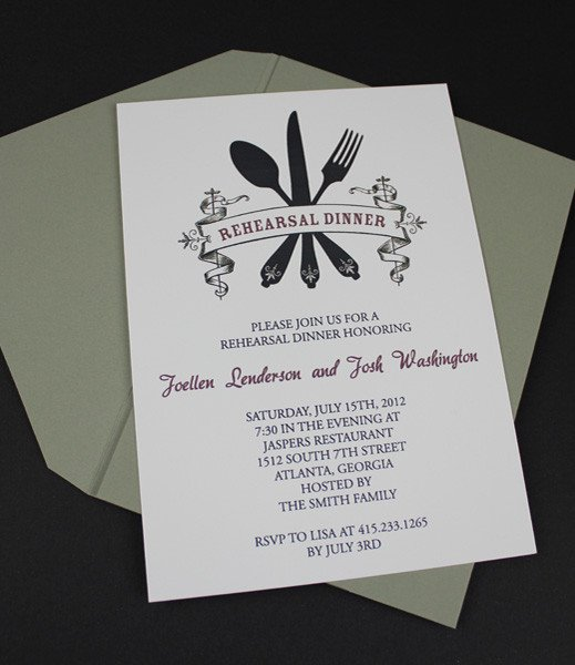 Free Dinner Invitation Templates Invitation Template – Casual Rehearsal Dinner – Download