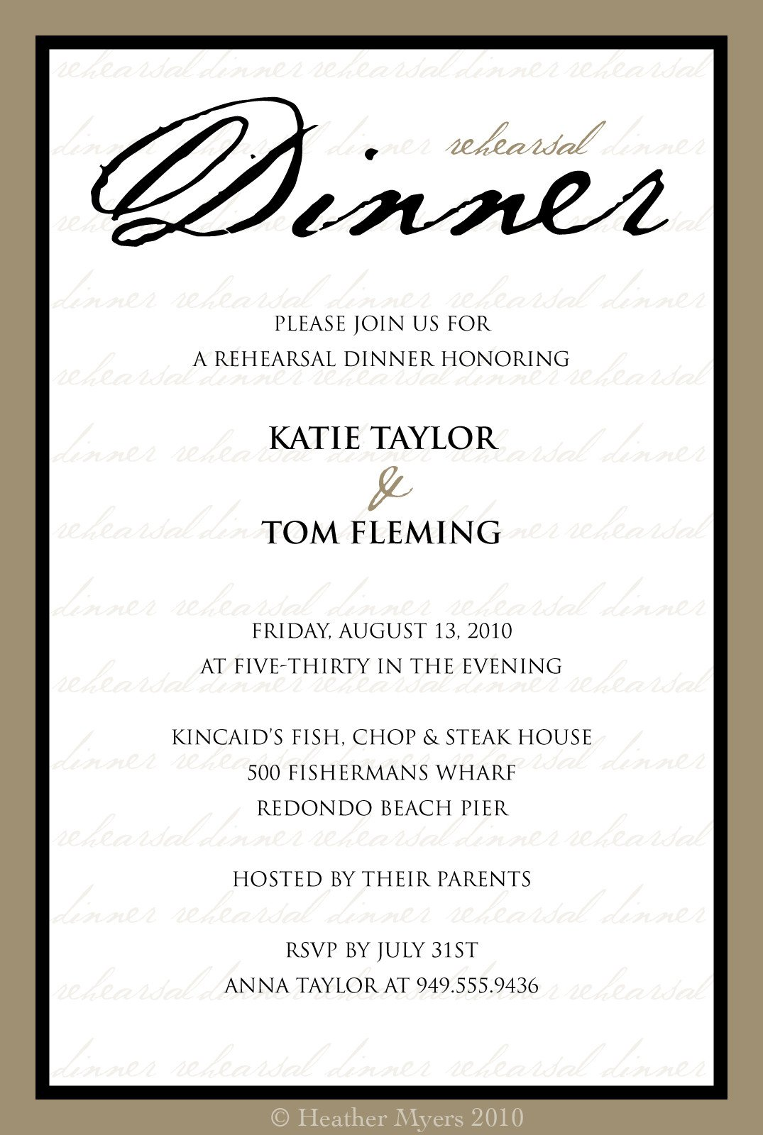 Free Dinner Invitation Templates Invitation Template Category Page 1 Efoza