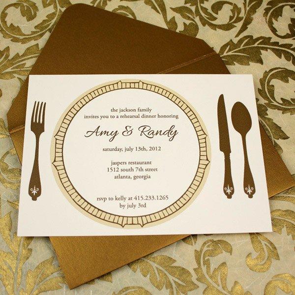 Free Dinner Invitation Templates Invitation Template – Elegant Rehearsal Dinner Invitation