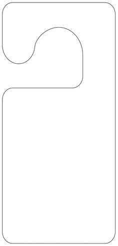 Free Door Hanger Templates Door Hanger Pattern Use the Printable Outline for Crafts