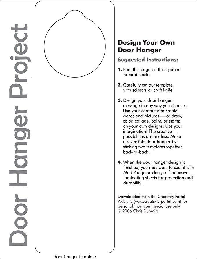Free Door Hangers Templates Door Hanger Template
