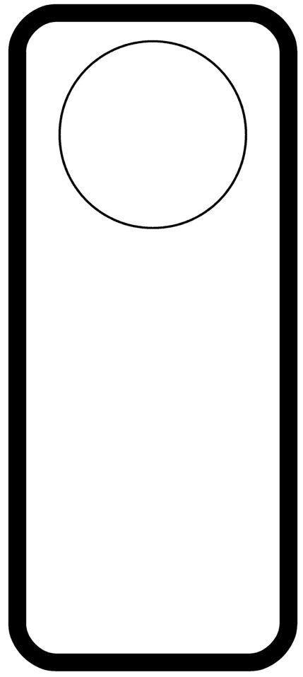 Free Door Hangers Templates Door Hanger Templates Pinterest