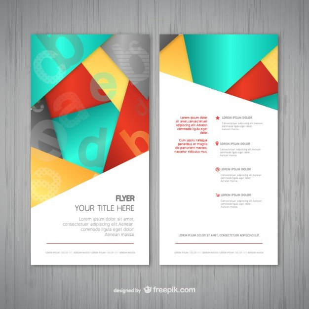 Free Download Flyers Template Abstract Flyer Template Vector