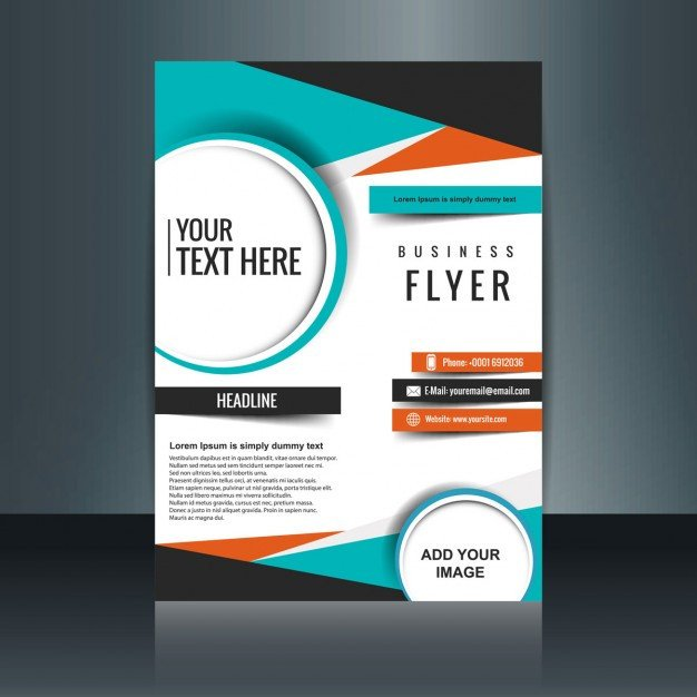 Free Download Flyers Template Business Flyer Template with Geometric Shapes Vector