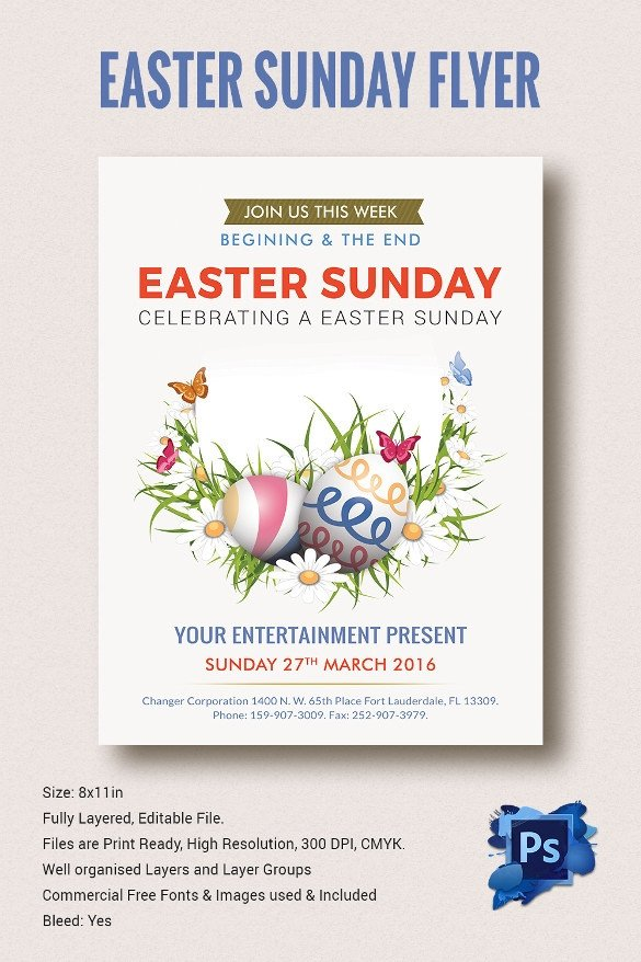Free Download Flyers Template Easter Flyer Template 28 Download Documents In Vector