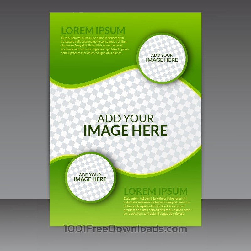 Free Download Flyers Template Free Vectors Green Business Vector Flyer Template