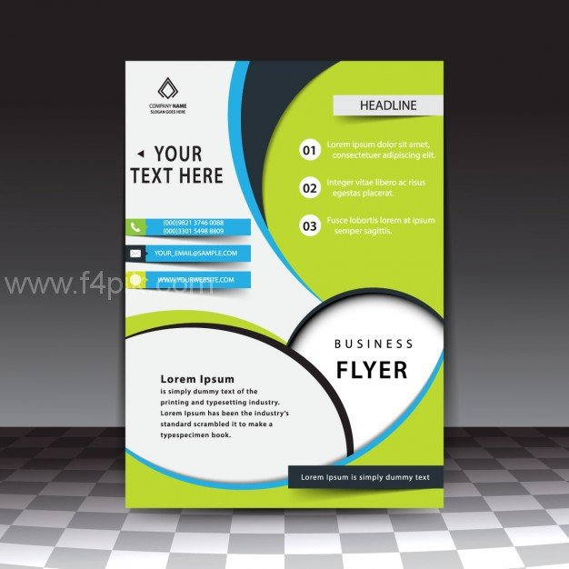 Free Download Flyers Template [ Vector ] Modern Stylish Business Flyer Template Free