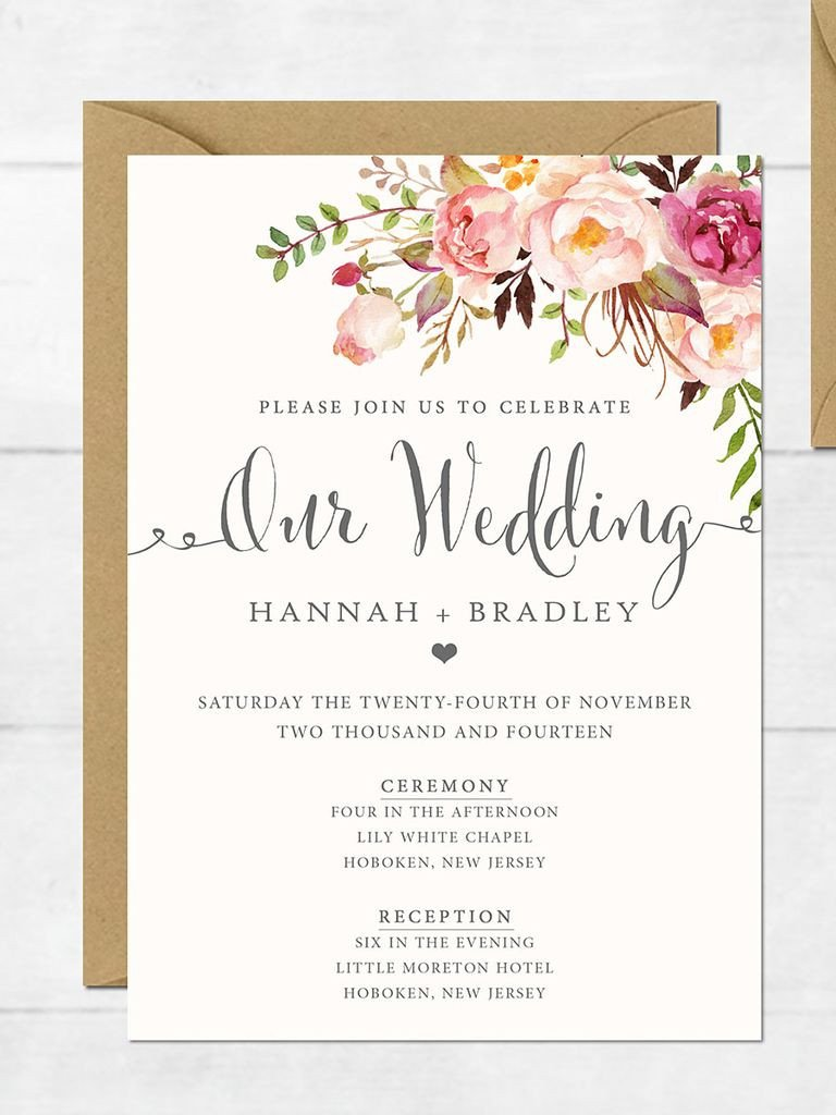Free Download Invite Templates 16 Printable Wedding Invitation Templates You Can Diy