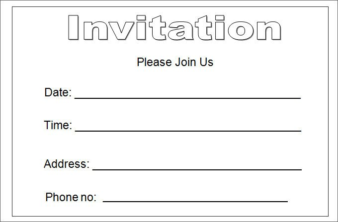 Free Download Invite Templates 27 Best Blank Invitation Templates Psd Ai