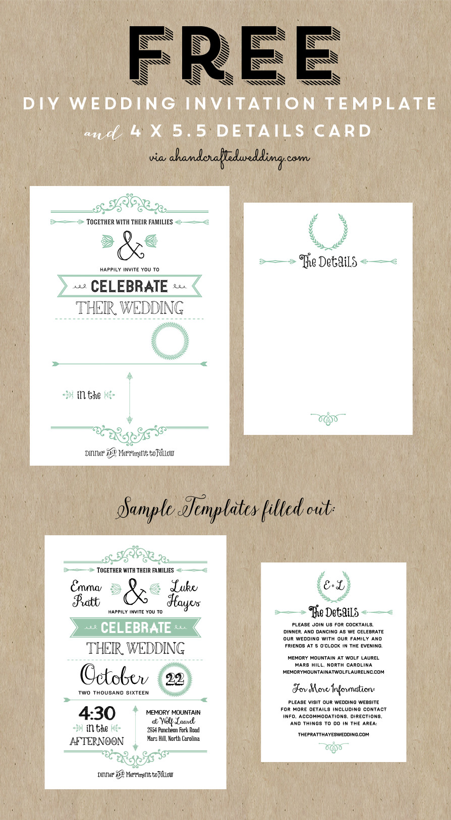 Free Download Invite Templates Best 25 Free Wedding Invitation Templates Ideas On