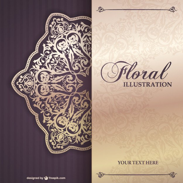 Free Download Invite Templates Floral Invitation Template Vector