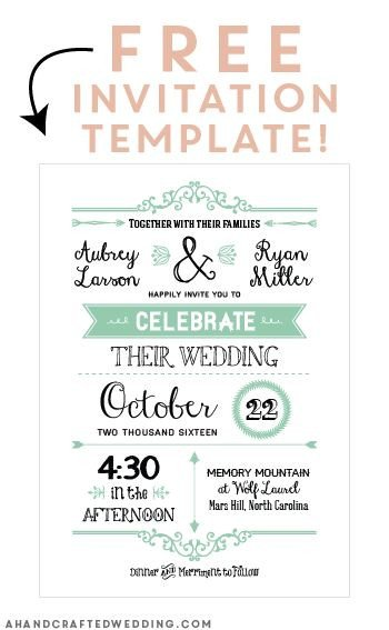 Free Download Invite Templates Free Printable Wedding Invitation Template