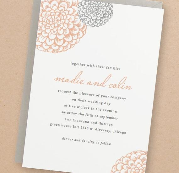 Free Download Invite Templates Printable Wedding Invitation Template Instant Download