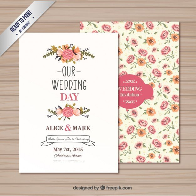Free Download Invite Templates Wedding Invitation Template Vector