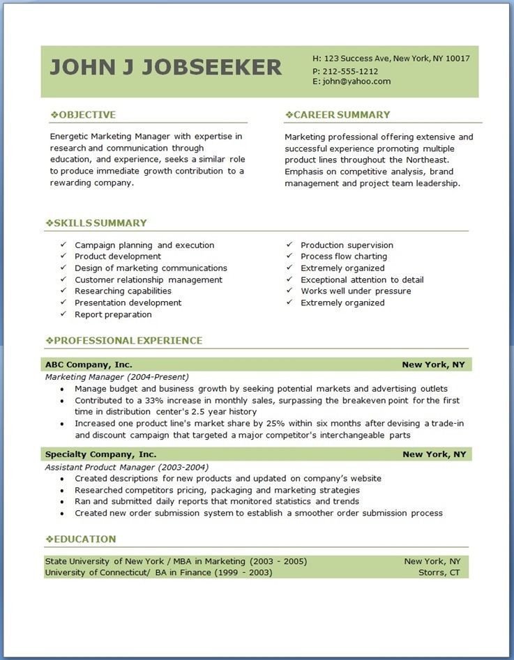 Free Download Resume Templates Free Professional Resume Templates